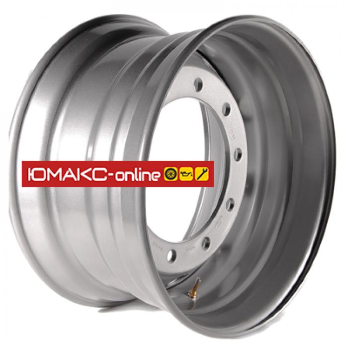 Штампованный диск Maxion 8,25x22,5/10x335 ET157 D221 M22 Sil
