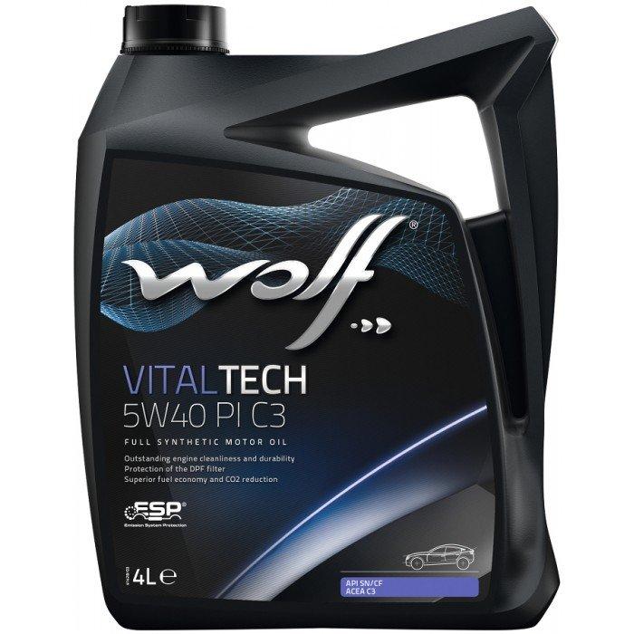 Моторное масло Wolf VITALTECH 5W40 PI C3 4л