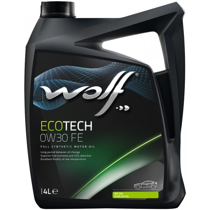 WOLF Масло мот. ECOTECH 0W30 FE 4л/4